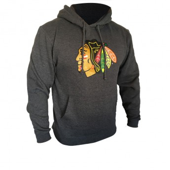 Chicago Blackhawks férfi kapucnis pulóver grey Core Logo Hood