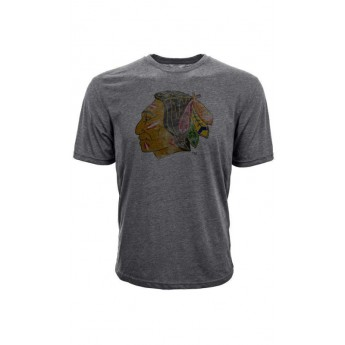 Chicago Blackhawks férfi póló grey Retro Tee