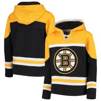 Boston Bruins gyerek kapucnis pulóver Asset Lace-Up Pullover Hoodie
