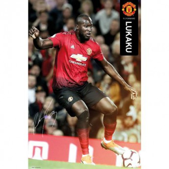 Manchester United plakát Poster Lukaku 48
