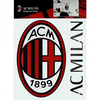 AC Milan fali matrica Wall Sticker A4