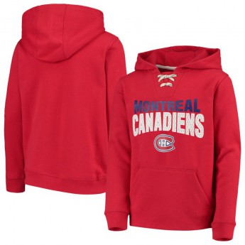 Montreal Canadiens gyerek kapucnis pulóver Off The Ice Lace-Up Pullover Hoodie