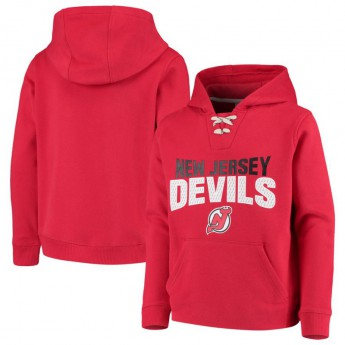 New Jersey Devils gyerek kapucnis pulóver Off The Ice Lace-Up Pullover Hoodie