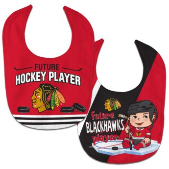 Chicago Blackhawks gyerek nyálazó előke WinCraft Future Hockey Player 2 Pack