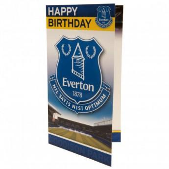 FC Everton születésnapi köszöntő Birthday Card