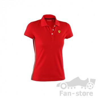 Scuderia Ferrari női galléros póló rosso