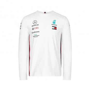 Mercedes AMG Petronas férfi hosszú ujjú póló white F1 Team 2019
