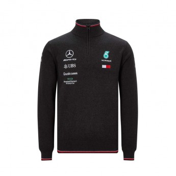Mercedes AMG Petronas férfi pulóver black Half Zip F1 Team 2019