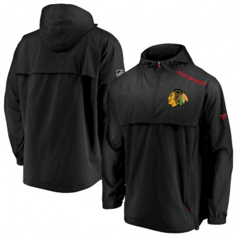 Chicago Blackhawks férfi kabát Authentic Pro Rinkside Anorak 1/4-Zip