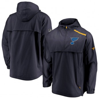 St. Louis Blues férfi kapucnis kabát Authentic Pro Rinkside Anorak 1/4-Zip