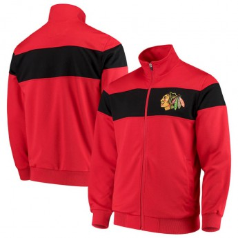 Chicago Blackhawks férfi kabát G-III Sports by Carl Banks Strength Full-Zip Track Jacket