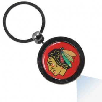 Chicago Blackhawks világító  kulcstartó Gunmetal Hockey Puck Flashlight Keychain