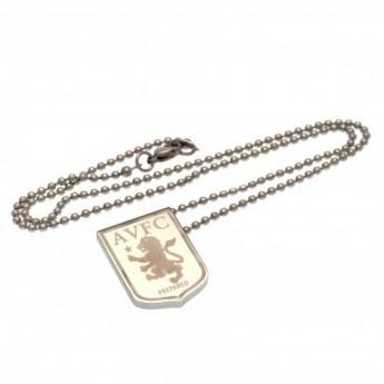 Aston Villa nyaklánc medállal stainless steel pendant & chain LG