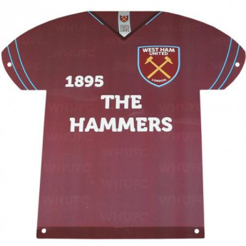 West Ham United fém tábla Metal Shirt Sign