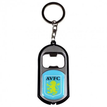 Aston Villa kulcstartó üveg nyitóval Key Ring Torch Bottle Opener