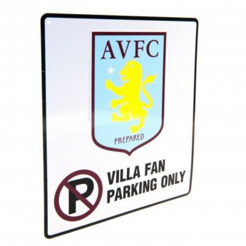 Aston Villa pléh tábla No Parking Sign