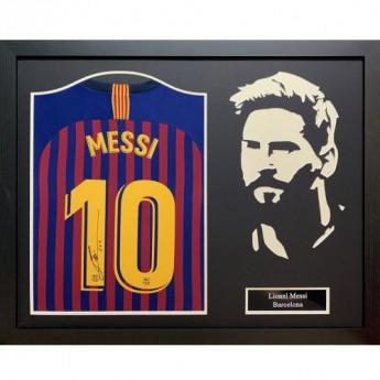 Legendák bekeretezett mez FC Barcelona Signed Shirt Silhouette