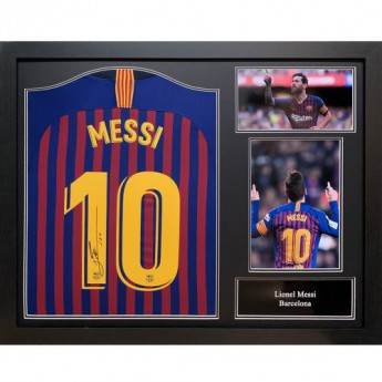 Legendák bekeretezett mez FC Barcelona Messi Signed Shirt (Framed)